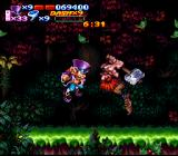 Nightmare Busters SNES There's a showdown in the forest, and neither man is backing down.