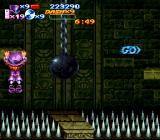 Nightmare Busters SNES Will the old ball and chain send Flynn over the edge?