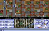Operation Combat II: By Land, Sea & Air Amiga A blue armour is closing in on the red base
