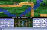 Operation Combat II: By Land, Sea & Air Amiga Boats duking it out near the riverbank farms
