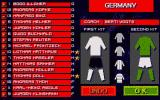 Sensible Soccer: European Champions - 92/93 Edition Atari ST Team editor: player names, faces, colours can be changed