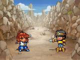 Puyo Puyo Sun SEGA Saturn Dialog scenes feature humor and silliness.