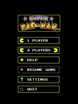 Super Pac-Man Windows Mobile Various options at the start