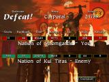 Warcraft II: Tides of Darkness DOS Post battle summary with several statistics