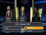 Who Wants to Be a Millionaire: Party Edition Windows A multi-player game in progress. The scary Geek lady had dared to challenge Moby