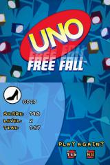 Uno / Skip-Bo / Uno Freefall Nintendo DS Stats from a game of Free Fall.