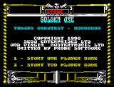 Golden Axe ZX Spectrum Main menu