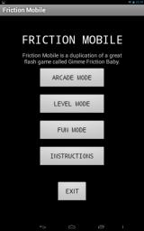 Friction Mobile Android Title screen