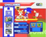 Sonic Heroes PlayStation 2 Challenge Menu
