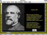 Gettysburg: An Interactive Battle Simulation Windows 3.x About the General Robert E. Lee