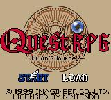 Quest: Brian's Journey Game Boy Color Title screen