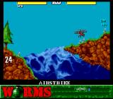 Worms SNES Airstrike