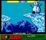 Worms SNES Snowman