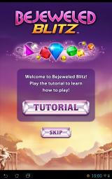 Bejeweled: Blitz Android When you first download Blitz, you can you receive the option of a quick tutorial.