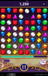 Bejeweled: Blitz Android In game view.
