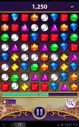 Bejeweled: Blitz Android If your stuck, wait a couple of seconds and a hint will show, unless they've been switched off.