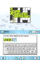 CrossworDS Nintendo DS You can use built-in in-game keyboard.