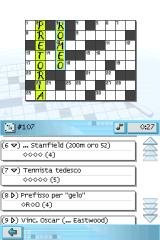 CrossworDS Nintendo DS Switching to Italian language gives different 555 crosswords in Italian.