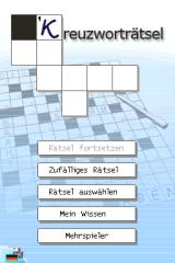 CrossworDS Nintendo DS Main menu (German).