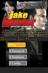Jake Hunter: Detective Chronicles Nintendo DS Main menu.