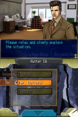 Jake Hunter: Detective Chronicles Nintendo DS Episode 2 - Talking to the client on the phone.