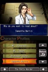 Jake Hunter: Detective Chronicles Nintendo DS List of character profiles throughout the episodes.