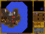Heroes of Might and Magic Windows Volcanic terrain near sea