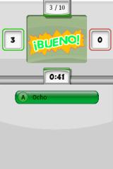 My Spanish Coach Nintendo DS Correct answers earn you score, incorrect ones penalty.