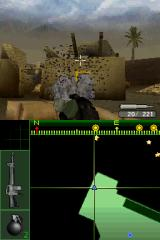 Call of Duty 4: Modern Warfare Nintendo DS Throwing grenades.