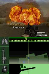 Call of Duty 4: Modern Warfare Nintendo DS Taking out a target tank with an air strike.