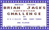 Brian Jacks Superstar Challenge Commodore 64 Title Screen