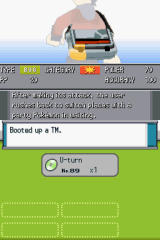 Pokémon HeartGold Version Nintendo DS TM's can be used to teach a pokémon an attack. The description and stats of the move are displayed from the messenger.