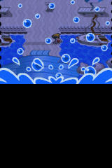 Pokémon HeartGold Version Nintendo DS The battle intro 'splash' screen when fishing for water pokémon/