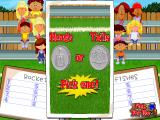 Backyard Soccer Windows Heads or Tails to see who goes first. Let's pick heads...