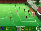 Backyard Soccer Windows Corner kicking after an out-of-bounds.