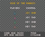Rise of the Rabbits Amiga Title screen
