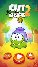 Cut the Rope 2 iPhone Title Screen