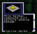 Resident Evil: Gaiden Game Boy Color Receiving healing herbs