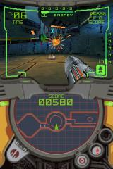 Metroid Prime: Hunters - First Hunt Nintendo DS Launching missiles at slimes in a mysterious structure.
