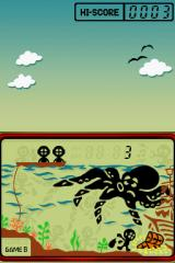 Game & Watch Collection 2 Nintendo DS Brave divers wait patiently to take to the sea should their comrade fail in his looting.
