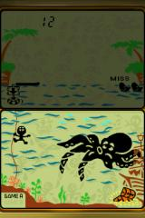 Game & Watch Collection 2 Nintendo DS ... then when indicated move to far left and press down - Quick change! Diver gear! Going down into the combined Octopus game.