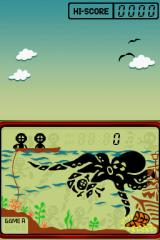 Game & Watch Collection 2 Nintendo DS The first aquanaut is grabbed by the laconic cephalopod.