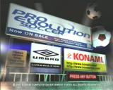 Pro Evolution Soccer PlayStation 2 Title Screen
