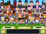 Backyard Baseball 2001 Windows The bleachers, doubled now that the pros are here.