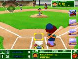 Backyard Baseball 2001 Windows Mikey steps up, ready to smack the ball...