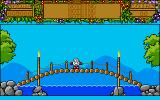 Treasure Island Dizzy Amiga Crossing a bridge