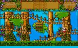 Treasure Island Dizzy Amiga Watch out for traps in this treehouse