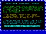 Invasion Force ZX Spectrum Introductions