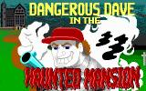 Dangerous Dave in the Haunted Mansion DOS Game title