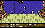 Bubble Dizzy Commodore 64 Beginning a level on the ocean floor
